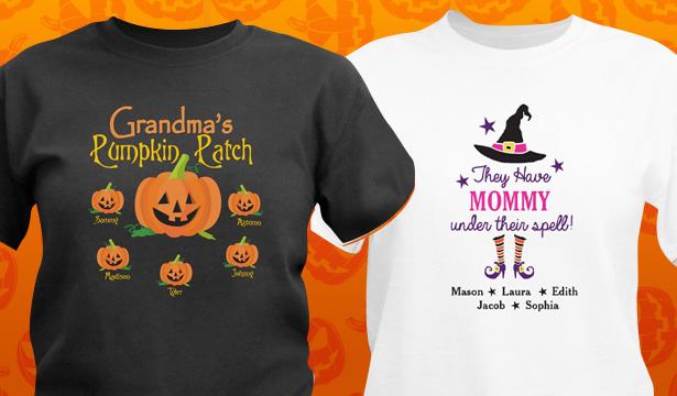 Personalized Halloween Shirts & Apparel