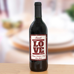 Personalized I'm In Love With You Wine Bottle Label | Romantic Home
