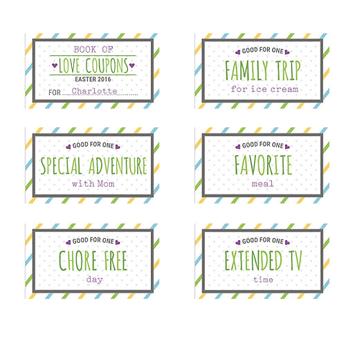 Personalized Easter Coupon Book | Personalized Coupon Book