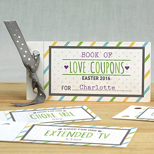 Personalized Easter Coupon Book