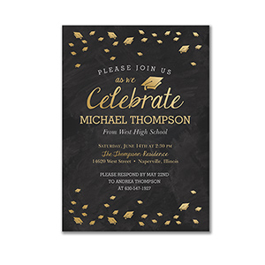 Personalized Celebrate Graduation Invitations