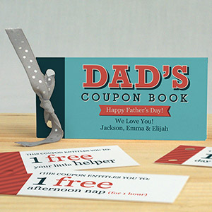 Personalized Father's Day Coupon Book | Father's Day Gifts