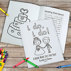 Personalized I Do I Do Coloring Book | Flower Girl and Ring Bearer Gifts