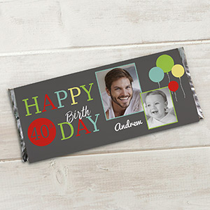 Birthday Photo Collage Candy Bar Wrappers
