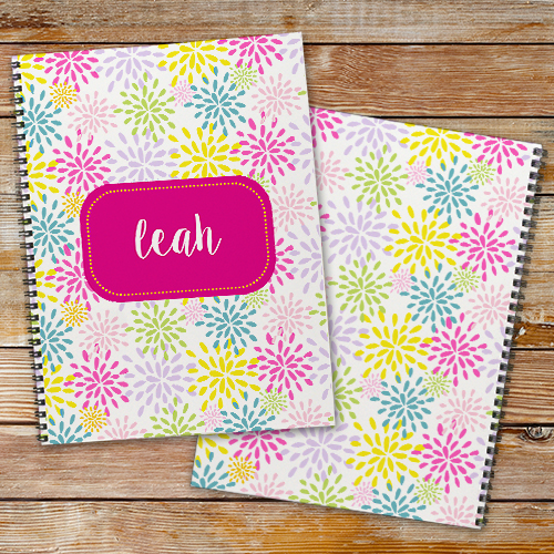 Personalized Flower Notebook Set | Personalized School Supplies