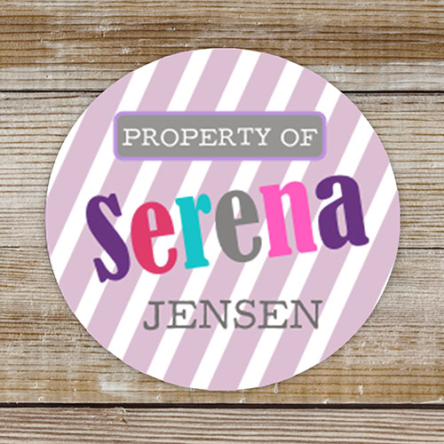 Personalized Property of Stickers for Girls | Personalized School Supplies