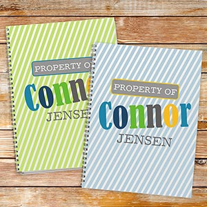 Personalized Property of Notebook Set for Boy 11158721-S2