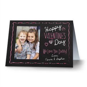 Chalkboard Photo Card | Personalized Valentines Cards