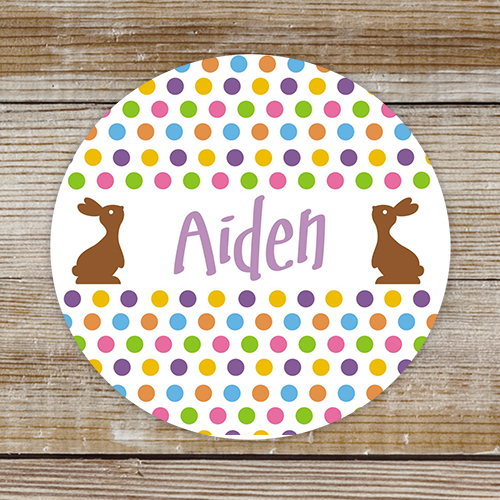 Personalized Chocolate Bunny Stickers 174811