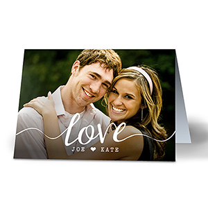 Personalized Love Photo Card