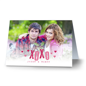 XOXO Photo Card | Personalized Valentine's Day Cards