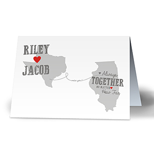 Long Distance Love Personalized Card