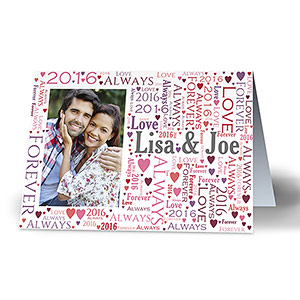 Personalized Loving Couple Photo Word-Art Card