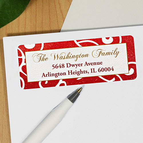 Holiday sparkle Address Labels 197280x