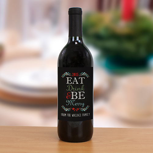 Christmas Personalized Wine Bottle Label