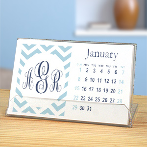 Personalized Chevron Monogram Desk Calendar 1987314