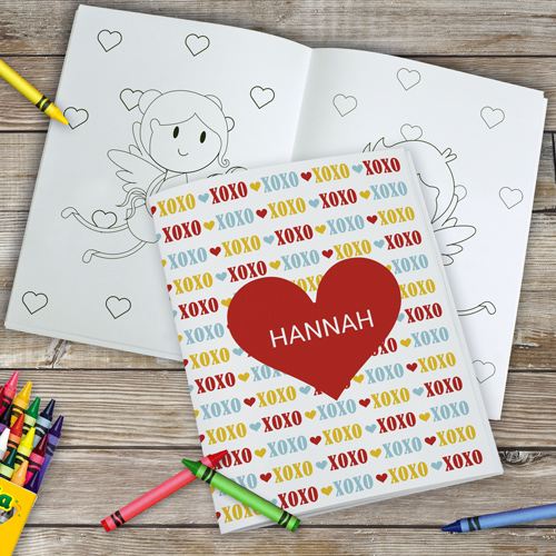 Personalized Valentine's Coloring Book | Valentines Day Gifts For Kids