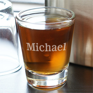 Personalized Shot Glass | Custom Groomsmen Shot Glasses