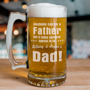 Anybody Can Be...Dad Sports Glass Mug | Bar Gifts for Dad