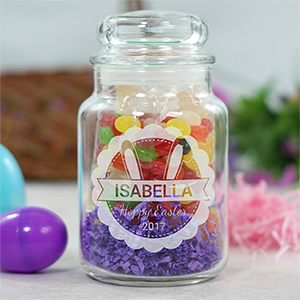 Engraved Bunny Ears Treat Jar 2100034