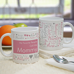 Personalized Favorite People call me Mommy Word-Art Mug