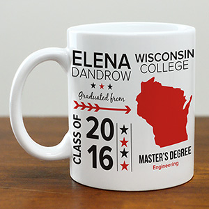 Personalized College Graduation Mug