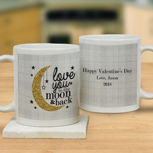 Personalized Love You To The Moon And Back Mug | Customizable Coffee Mugs