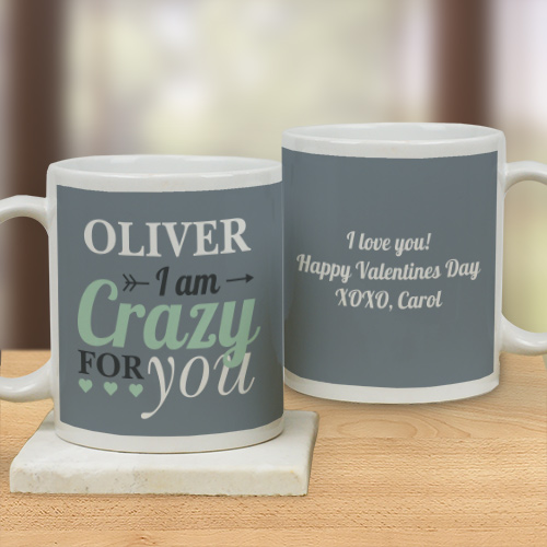 Personalized Crazy For You Mug | Customizable Coffee Mugs