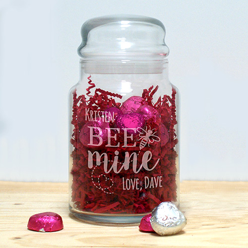 Personalized Treat Jar for Valentines | Personalized Valentines Gifts For Kids