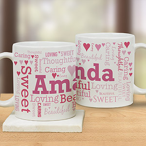 Love Forever Word-Art Mug | Personalized Mugs