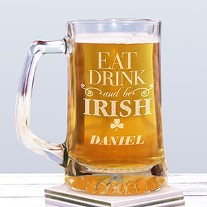 Engraved Irish Beer Stein  | Personalized Gifts