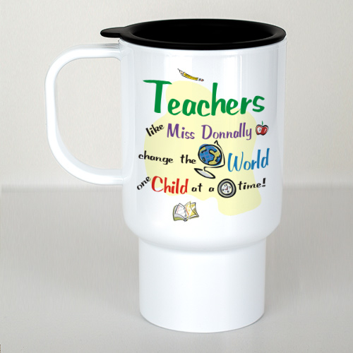 Personalized My Teacher Rules Travel Mug T211230