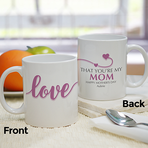 Personalized I Love That You're My Mom Mug | Mother's Day Coffee Mugs
