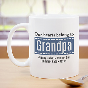 Personalized Our Hearts Belong To Mug | Grandpa Gifts