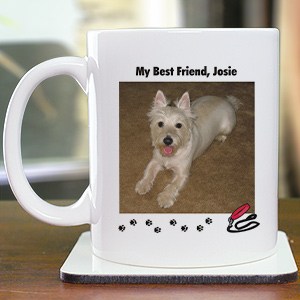My Best Friend Dog Personalized Photo Coffee Mug
