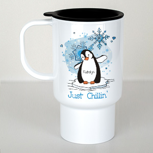Just Chillin' Penguin Personalized Travel Mug T215310
