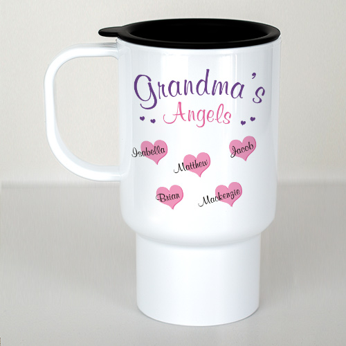 Personalized Angels Of My Heart Travel Mug T215860