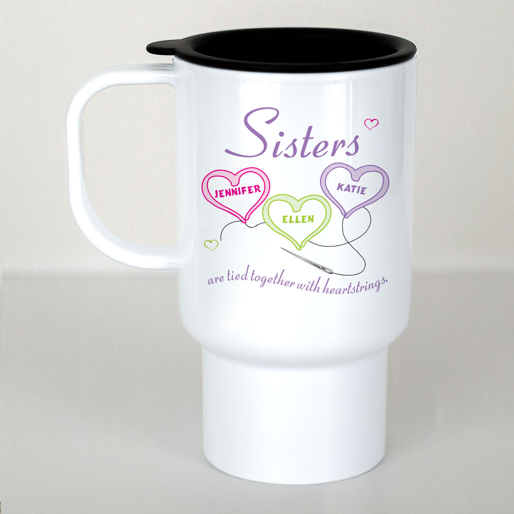 Personalized Sisters Travel Mug | Personalized Sister Gifts