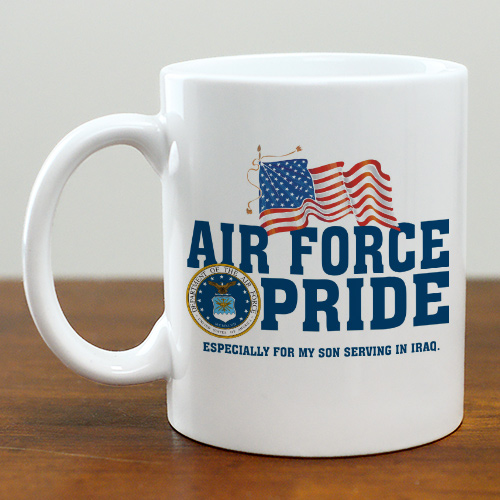 Military Pride Personalized Ceramic Coffee Mug