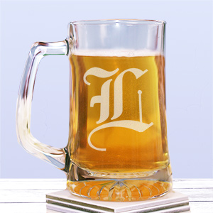 Any Initial Sports Glass Mug