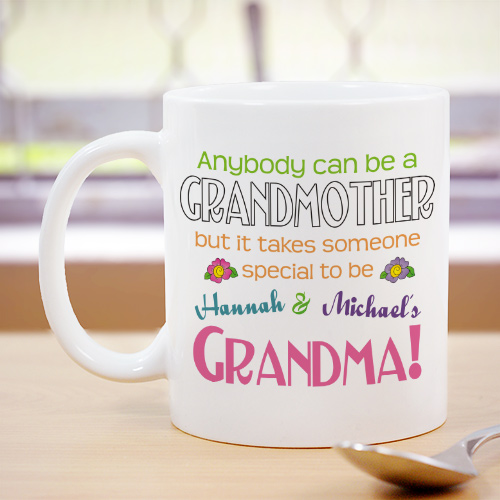 Anybody Can Be A Grandmother Personalized Coffee Mug