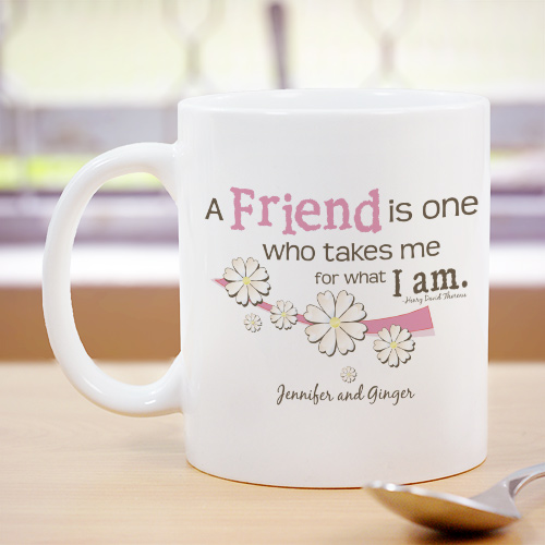Friendship Personalized Coffee Mug