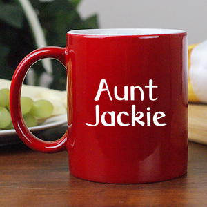 You Are Loved Two-Sided Personalized Aunt Two-Toned Coffee Mug 221063AUNT