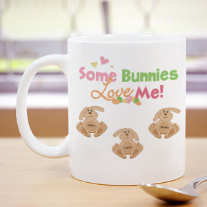 Some Bunnies Love Me Personalized Coffee Mug