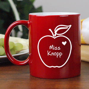 Apple of my Heart Mugs | Customizable Coffee Mugs