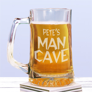 Man Cave Personalized Sports Glass Mug 225831
