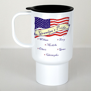 Personalized USA Pride Travel Mug T227410