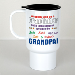Personalized Anybody Can Be...Grandpa Travel Mug T228600