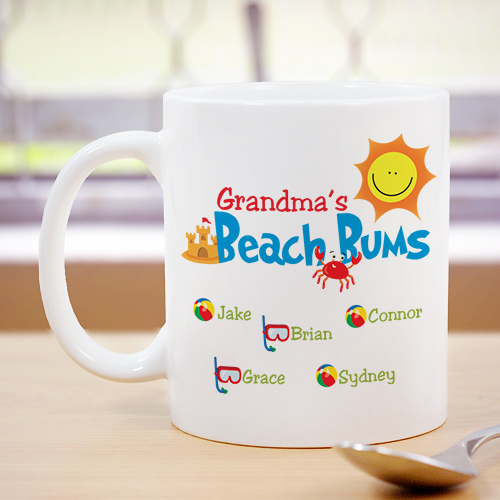 Personalized Beach Bums Coffee Mug | Personalized Gifts For Grandma