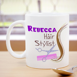 Custom Printed Hair Stylist Coffee Mug | Customizable Coffee Mugs
